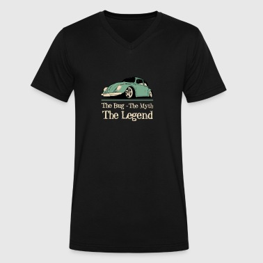 Love Bug Cars Classic car - The bug the myth the legend t - sh - Men's V-Neck T-Shirt by Canvas