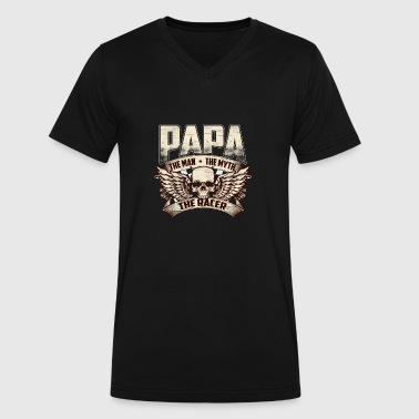 Urban Racer Racer - Papa, the man, the myth, the racer - Men's V-Neck T-Shirt by Canvas