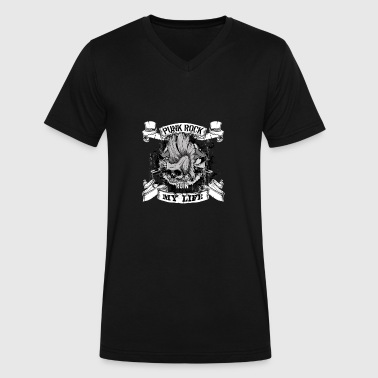 Psychobilly Skinhead Punk rock - Punk rock ruin my life t-shirt - Men's V-Neck T-Shirt by Canvas