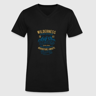 Adventure Wilderness Wilderness Adventurer - Men's V-Neck T-Shirt by Canvas