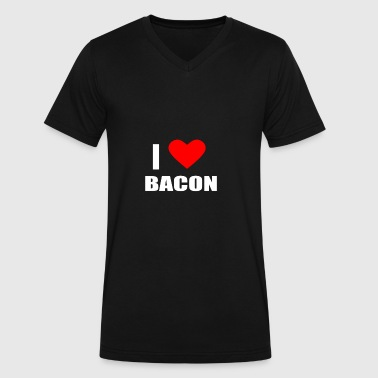 Bacon Elements BACON - Men's V-Neck T-Shirt by Canvas