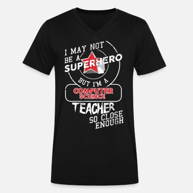 Computer Science Teacher Computer Science Teacher - Men's V-Neck T-Shirt by Canvas