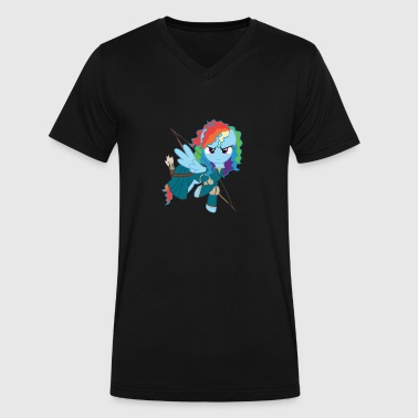 Rainbow - Men's V-Neck T-Shirt by Canvas