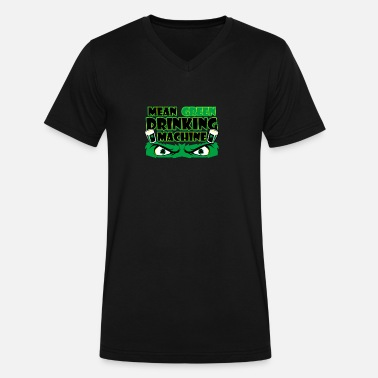 Mean Green Mean Green - Men's V-Neck T-Shirt by Canvas