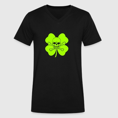 Green Skull Green Skull - Men's V-Neck T-Shirt by Canvas
