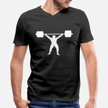 Weight Lift weight lifting - Men's V-Neck T-Shirt by Canvas