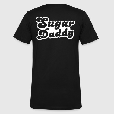 Sugar Daddy in cute font - Men's V-Neck T-Shirt by Canvas