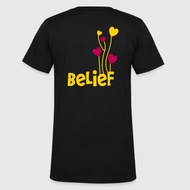 belief with love heart balloons uplifting - Men's V-Neck T-Shirt by Canvas