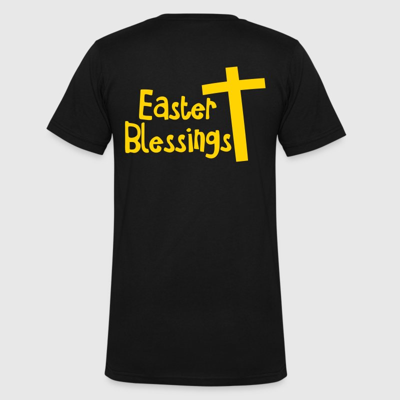 EASTER blessings with a Christian cross - Men's V-Neck T-Shirt by Canvas