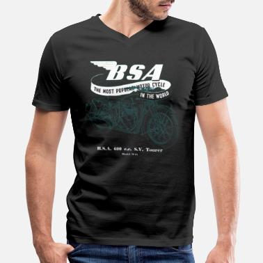 Motorcycle BSA Motorcycle English Bike Classic - Men's V-Neck T-Shirt