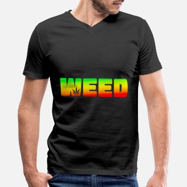 Ganja Girls Weed Cannabis Ganja - Men's V-Neck T-Shirt by Canvas