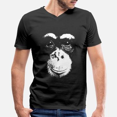 Chimpanzee Friendly Chimp - Chimpanzee - Men's V-Neck T-Shirt