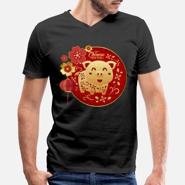 Chinese Happy Chinese New Year - Men's V-Neck T-Shirt