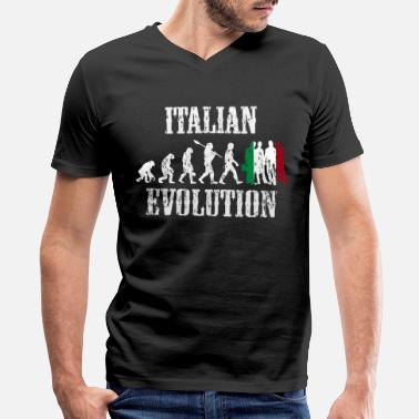 Tourism Italy country gift evolution - Men's V-Neck T-Shirt