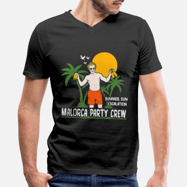 Majorca Mallorca Party Crew Malorca Majorca - Men's V-Neck T-Shirt