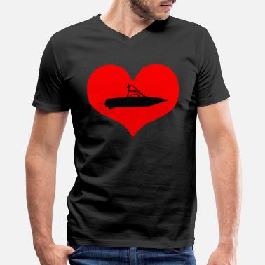 Bow Rider BOW RIDER HEART - Men's V-Neck T-Shirt