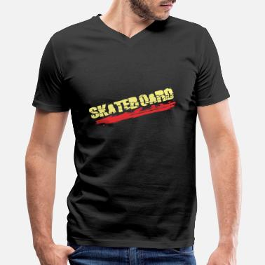 Skateboard - Men's V-Neck T-Shirt