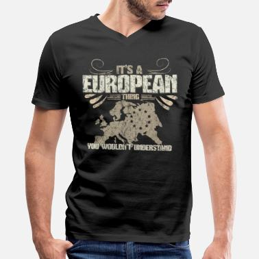 European Union Europe EU Gift Idea - Men's V-Neck T-Shirt