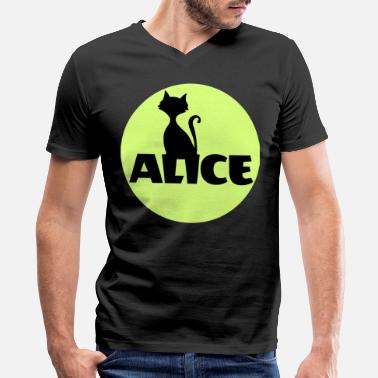 Name Day Alice First name Name Personal gift Name day - Men's V-Neck T-Shirt