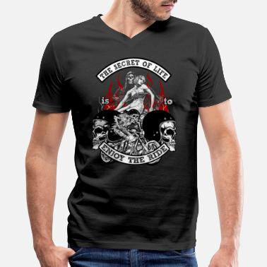 Death Rider Bikers Bike Life Riders Death Motorcycle Gift - Men's V-Neck T-Shirt