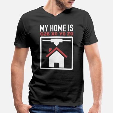 1caf755e1 Funny CNC Machinist My Home Is G28 X0 Y0 Z0 - Men's