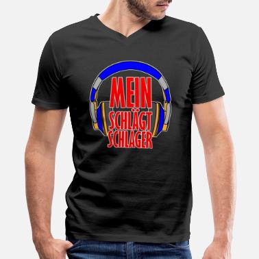 Hits My head hits hit - Men's V-Neck T-Shirt