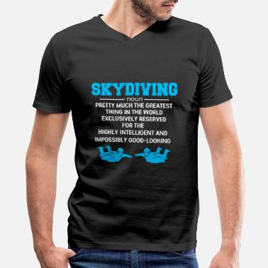 Skydiving Skydiving - Men's V-Neck T-Shirt