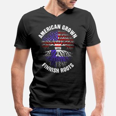 Finnish Roots American Grown Finnish Roots - Men's V-Neck T-Shirt