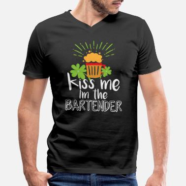 ef53fb343e St Patricks Day Funny Bartender Shirt Barman - Men's V-Neck