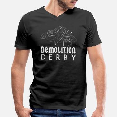 County Fair Demolition Derby Clothing Cars County Fair - Men's V-Neck T-Shirt by Canvas
