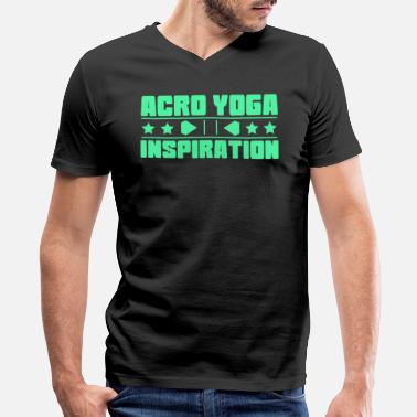 Acro Yoga Lovely and Relaxing Acro Yoga Tshirt Design Acro Yoga Inspiration - Men's V-Neck T-Shirt by Canvas