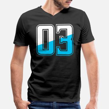 Jersey Number Three Number Tshirt - Men's V-Neck T-Shirt