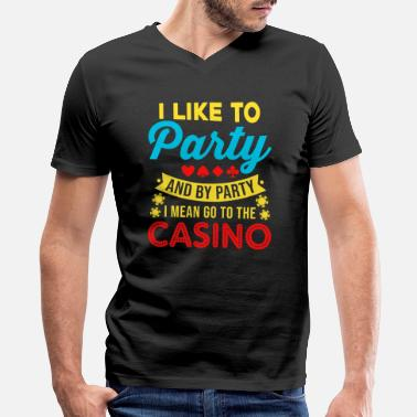 Casino Casino Theme Gifts: Casino Party - Men's V-Neck T-Shirt