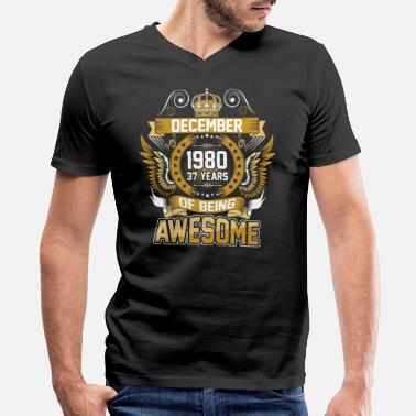 December-1980-37-years-of-being-awesome December 1980 37 Years Of Being Awesome - Men's V-Neck T-Shirt