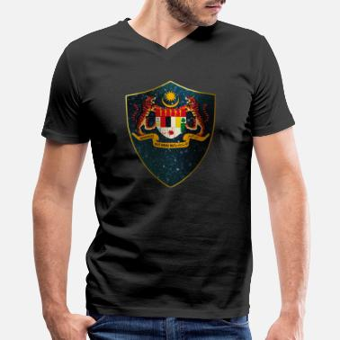 Burma Malaysia Coat of Arms - Men's V-Neck T-Shirt