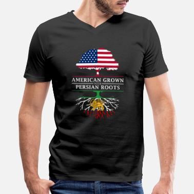 Persia American Grown with Persian Roots Persia Design - Men's V-Neck T-Shirt