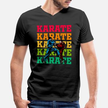 Karate Merchandise Karate martial arts self-defense Sports gift - Men's V-Neck T-Shirt by Canvas