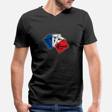 Champs Elysee France - Men's V-Neck T-Shirt by Canvas