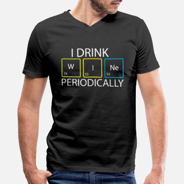 Periodic Wine Drink Periodically Science Symbol Cool Gift - Men's V-Neck T-Shirt