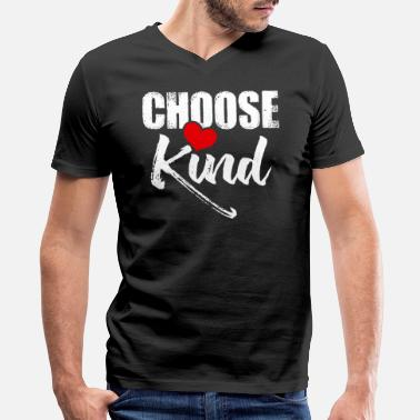 Support Anti Bullying Choose Kind Anti Bullying With a Heart Support - Men's V-Neck T-Shirt