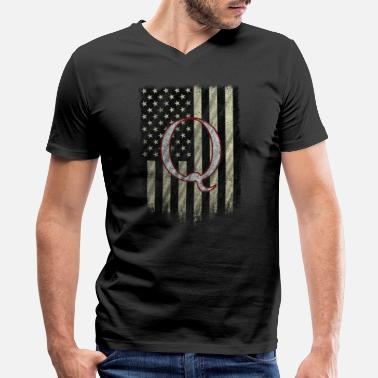 Conspiracy Q Anon Shirt Patriot WWG1WGA Political Conspiracy Qanon - Men's V-Neck T-Shirt