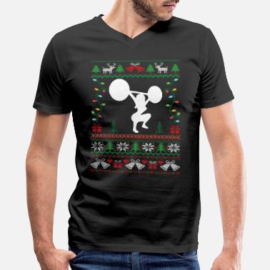 76e51574 Meme Weightlifting Womens Weightlifting Christmas Sweater - Men's  V-Neck T