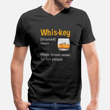 Fun Wiskey Definition Drinking Quote Brown Water Gift - Men's V-Neck T-Shirt