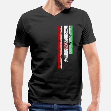 Iran Mens Proud Of Iran - IRN - Men's V-Neck T-Shirt by Canvas