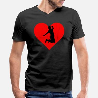 Sports Trampolin Heart - Men's V-Neck T-Shirt