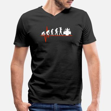 Tambores Drums Heartbeat - EVOLUTION OF DRUMS - Men's V-Neck T-Shirt