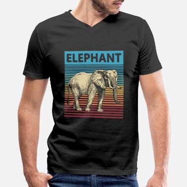 Retrogaming Retro Elephant Vintage Elephant - Men's V-Neck T-Shirt