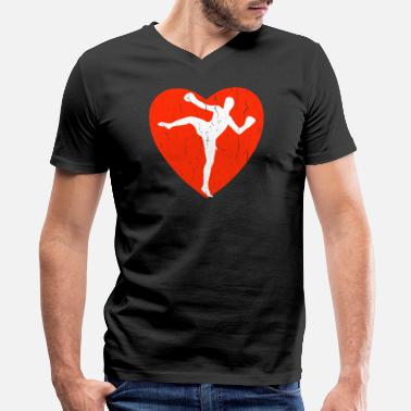 Kickboxer Kickboxing - Men's V-Neck T-Shirt by Canvas