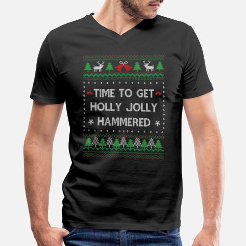 Funny Ugly Christmas Sweater Mens V Neck T Shirt Spreadshirt