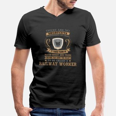 Railway Workers Railway Worker Tshirt Gift for Birthday and XMAS - Men's V-Neck T-Shirt